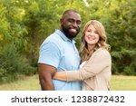 portrait of a loving mixed race ... | Shutterstock . vector #1238872432