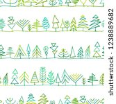 seamless pattern with trees ... | Shutterstock .eps vector #1238889682