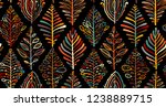 abstract leaves background.... | Shutterstock .eps vector #1238889715