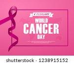 world cancer day card banner.... | Shutterstock .eps vector #1238915152