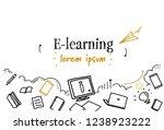 online education e learning... | Shutterstock .eps vector #1238923222
