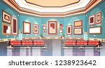 modern art gallery in museum... | Shutterstock .eps vector #1238923642