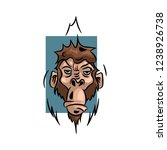 monkey vector illustration ... | Shutterstock .eps vector #1238926738