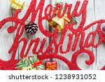 christmas background with...   Shutterstock . vector #1238931052