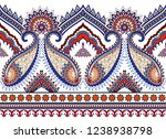 seamless bright wide border ind ... | Shutterstock .eps vector #1238938798