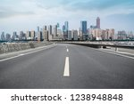 road ground and urban skyline... | Shutterstock . vector #1238948848