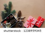christmas. new year. winter.... | Shutterstock . vector #1238959345