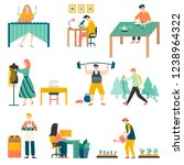 in their free time  people... | Shutterstock .eps vector #1238964322