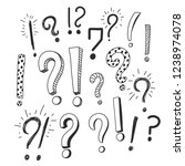 question and exclamation signs... | Shutterstock .eps vector #1238974078