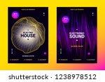 techno music poster. wave flyer ... | Shutterstock .eps vector #1238978512
