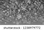 falling snow on transparent... | Shutterstock .eps vector #1238979772