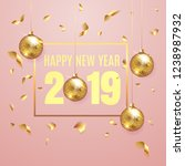 happy new year 2019 elegant... | Shutterstock .eps vector #1238987932