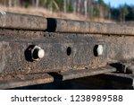 railway passing through the...   Shutterstock . vector #1238989588