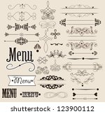 vector set of calligraphic... | Shutterstock .eps vector #123900112