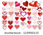 collection of vector hearts for ... | Shutterstock .eps vector #123900115