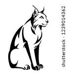 Sitting Lynx Design   Wild...