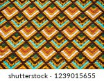 multicolored tiled roof of the... | Shutterstock . vector #1239015655