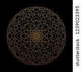 mandala luxury gold branding... | Shutterstock .eps vector #1239023395
