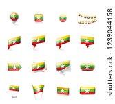 myanmar flag  vector... | Shutterstock .eps vector #1239044158