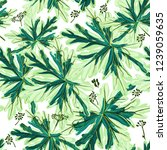 floral vector pattern with... | Shutterstock .eps vector #1239059635