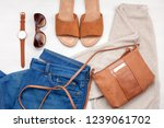 street style urban outfit.... | Shutterstock . vector #1239061702