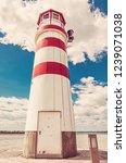 lighthouse in podersdorf am see ... | Shutterstock . vector #1239071038