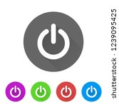 power button   app icon | Shutterstock .eps vector #1239095425