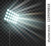 stadium glowing light. stadium... | Shutterstock .eps vector #1239098818