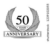 50 years design template. 50th... | Shutterstock .eps vector #1239102055