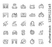 car wash  icon set. carwash ... | Shutterstock .eps vector #1239112165