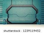 futuristic blue metallic door... | Shutterstock . vector #1239119452