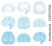 the brains | Shutterstock .eps vector #123912526