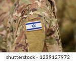 israel flag on soldiers arm ... | Shutterstock . vector #1239127972