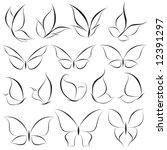 butterflies. elements for... | Shutterstock .eps vector #12391297