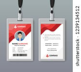 corporate id card design... | Shutterstock .eps vector #1239134512