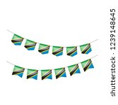 tanzania flag  vector... | Shutterstock .eps vector #1239148645