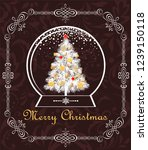 greeting vintage christmas card ... | Shutterstock .eps vector #1239150118