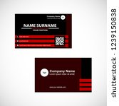 business card vector design | Shutterstock .eps vector #1239150838