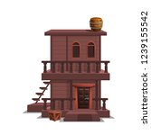 house for western town for game ... | Shutterstock .eps vector #1239155542
