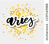 aries lettering calligraphy... | Shutterstock .eps vector #1239169888
