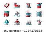 set icon winter template vector | Shutterstock .eps vector #1239170995