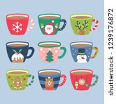 christmas holiday cute cocoa... | Shutterstock .eps vector #1239176872