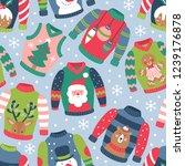 seamless pattern for christmas... | Shutterstock .eps vector #1239176878