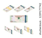 uae dirham money paper ... | Shutterstock .eps vector #1239177742