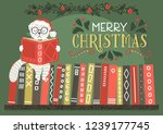 merry christmas greeting card.... | Shutterstock .eps vector #1239177745