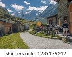 franz senn hutte  2 147 m asl ... | Shutterstock . vector #1239179242