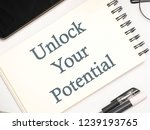 unlock your potential  business ... | Shutterstock . vector #1239193765
