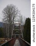 Suspension Bridge Crossing Bulkley-Nechako River
