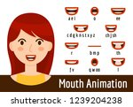 mouth lip sync set | Shutterstock .eps vector #1239204238