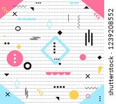 funky design background  modern ... | Shutterstock .eps vector #1239208552